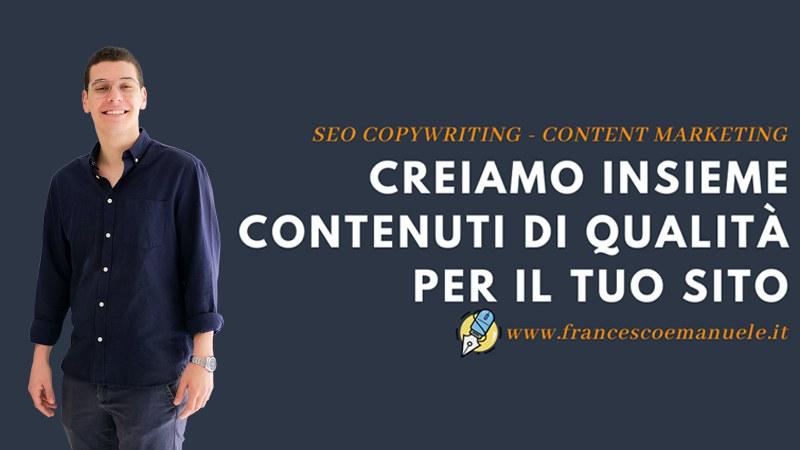 Francesco Emanuele, Consulente Web Marketing a Latina