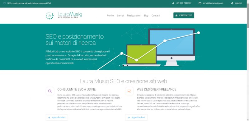 Laura Musig, Consulente SEO a Udine e Pordenone